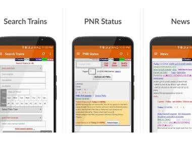 Railinfo app(India rail inforamtion app)