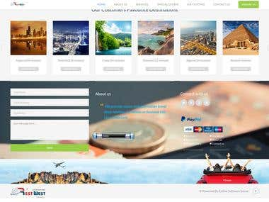 A website for booking flights and hotels