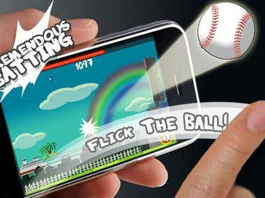 Flick Home Run! baseball game(Sports Game)
