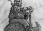 Dwarf Sitting On Rock