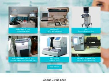 Divine Care Website Design