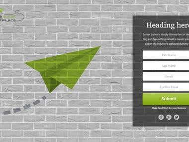 Bespoke Excel Landing Page