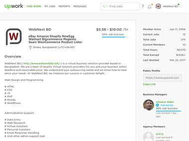 40 hours work experience on Upwork -- $100K+ USD Earned