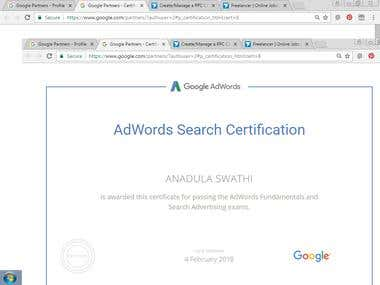 Google Search Advanced Certified