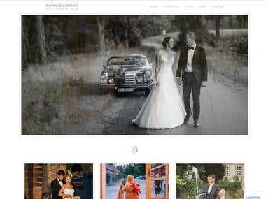 Website for a German photographer