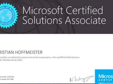 Microsoft Certified Solution Associate : Windows Server 2012