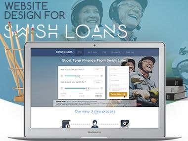 Website Design for Swish Loans