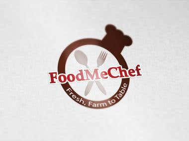 FoodMeChef logo design