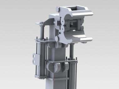 AEROSchmitt División Perforadoras Pipe Lifter Mechanical Arm