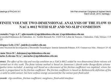 FINITE VOLUME TWO-DIMENSIONAL ANALYSIS OF THE FLOW OF NACA