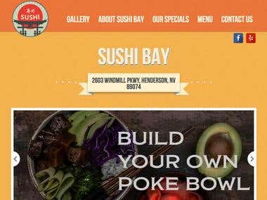 Sushi Bay Las Vegas Website