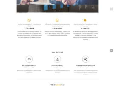 Responsive bootstrap website with Minimalist Design