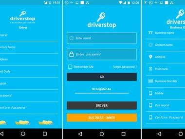 Driver Stop Taxi app for Android and iphone