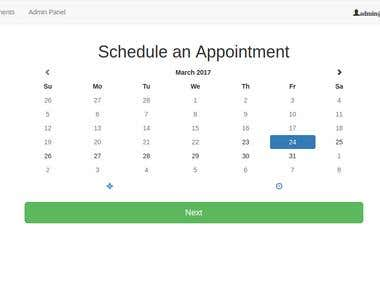 Appointment booking application for Salon