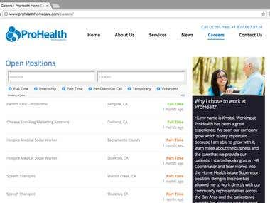 PROHEALTH HOME CARE INC. | WEB