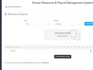 Human Resource & Payroll Management System