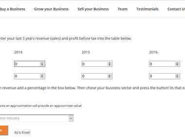 BGS Business Value Calculator Wordpress Plugin