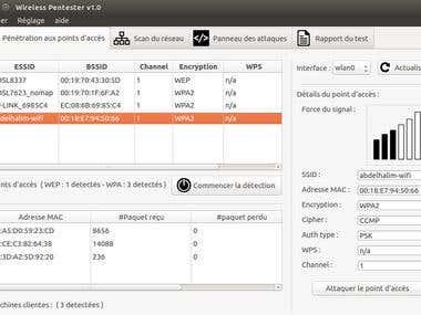Wireless Penetration testing toolbox GUI (python)