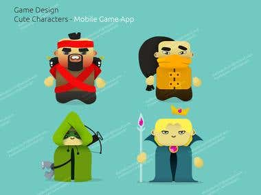 Game Cute Character Design - Mobile Game