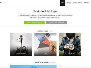 Produzioni dal Basso - crowdfunding platform