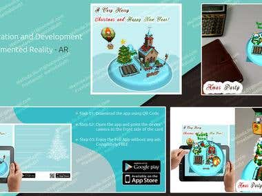 Xmas Greeting Card - Augmented Reality App