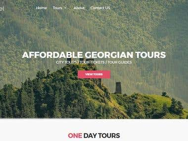 Travel & Tourism Website (silktravel.ge)