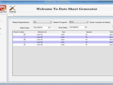Automatic Schedule Generator