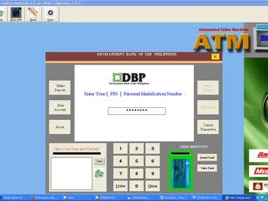 ATM simulation and GUI & backend work.