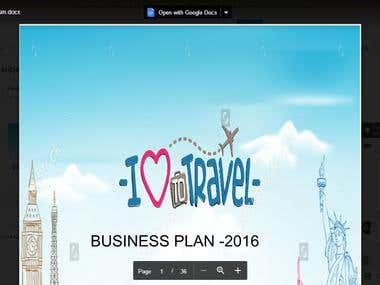 Business plan for tourism