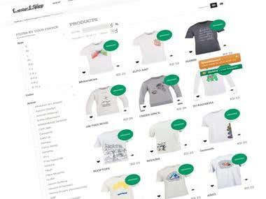 Ecommerce local-tees.com