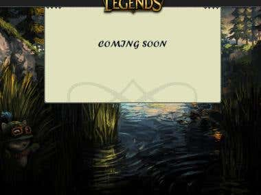 Simple League Of Legends Coming Soon Page