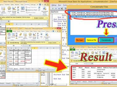 0. Concatenate many ExcelFile by using Excel VBA(image)