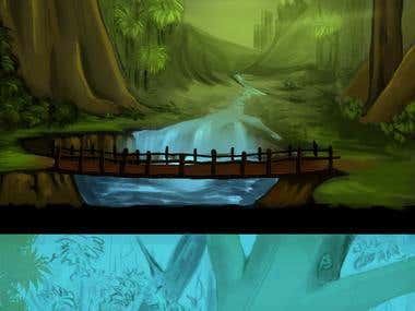 Pixel Art 2D Background