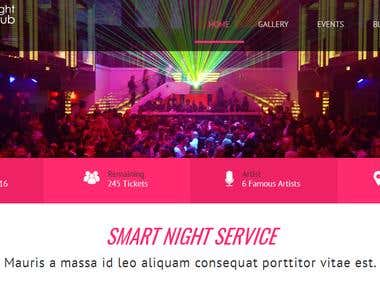 Website Development For A Nightclub