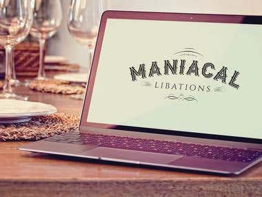 logo for maniacal libations