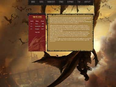 Dragons One Page Web Design