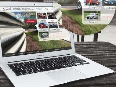 Car dealer responsive website design
