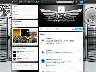 Twitter Profile Page Design 1