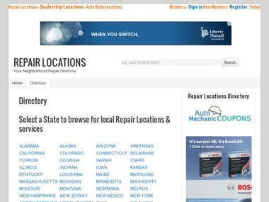 Repair Locations Directory