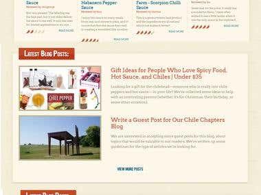 Restaurant webssite