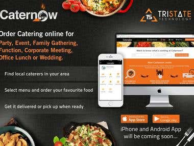 Caternow - Website for Hire Caterers