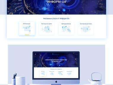Design website for Ukranian media portal INFORM-UA