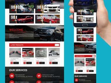 Motorsport psd for Wordpress $200 USD