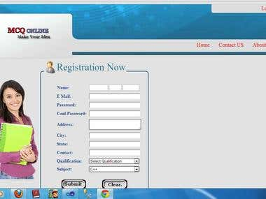 Online mcq exam in asp.net with C#