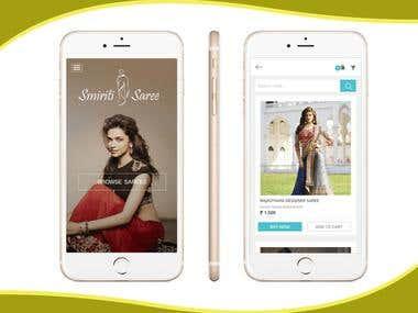 Saree Android App Mockup