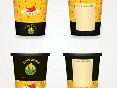 Cornhut's Packaging Design