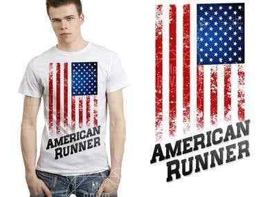 TSHIRT AMERICAN RUNNER
