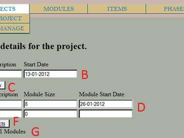 basic web app for project management