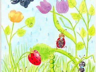 "Illustrations for the children's book ""Dancing Garden"""