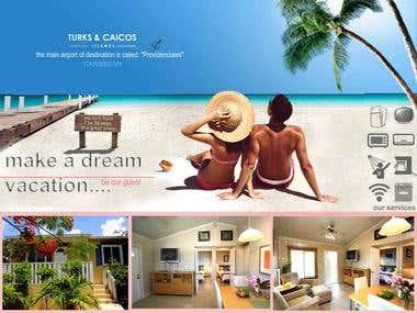 Banner design for rentable villa in a island